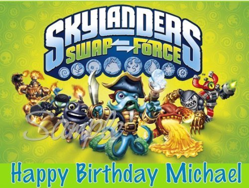 Skylanders Swap Force Edible Image Cake Topper - 1/4 Sheet for $<!--$6.99-->