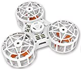 GoFly Fidget Flying Spinner: Novelty 2018 New Toy–Super Fun for Kids Adults and Family–ADHD Anti-Anxiety Stress Relief–Outdoor Handheld Rotation Toy–Flying Drone Triangle–Interactive Fun Game (White)