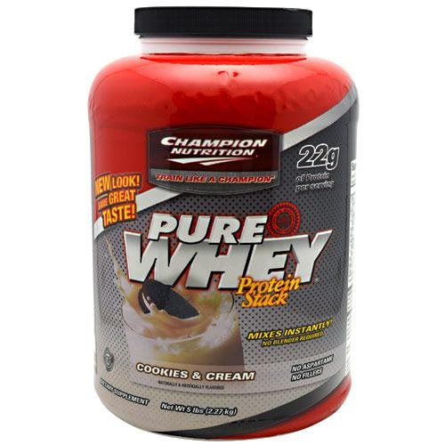 Champion Nutrition Pure Whey Protein Stack Cookies & Cream, £ 5 (Pack de 2)