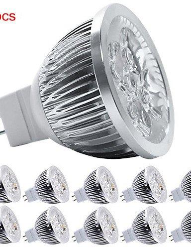 HJLHYL MNDFocos Decorativa HRY MR16 GU5.3 5 W 5 LED de Alta Potencia 550 LM Blanco C¨¢lido / Blanco Fresco DC 12 V 10 piezas , cool white-non-dimmable