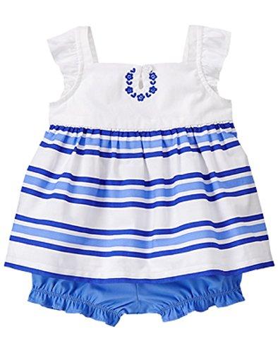 Gymboree Infant Girl (2) Piece Cobalt Blue Outfit - 0/3 (Gymboree Island)
