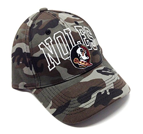 NCAA Wide Out Grey Camo Adjustable Hat (FSU - Florida State University - Seminoles)