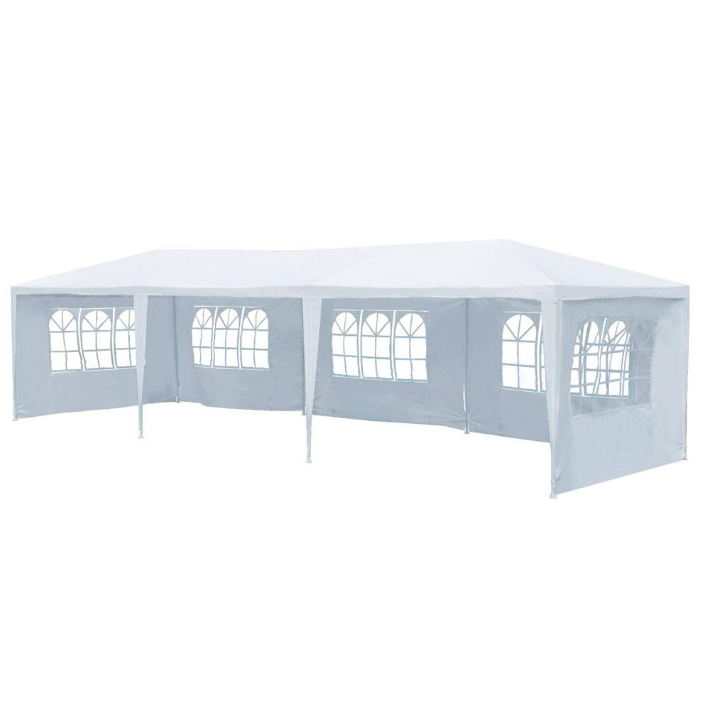 Yaheetech 10'x30' Heavy Duty Outdoor Canopy Party Wedding Tent Camping Gazebo Storage BBQ Shelter Pavilion 5 Removable Sidewalls White