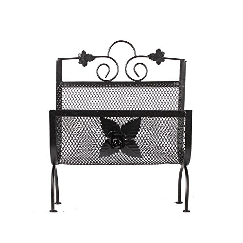 APKAMART Handcrafted Rot Iron Magazine Rack cum Newspaper Holder - Decorative Showpiece for Table Decor and Gifts by APKAMART