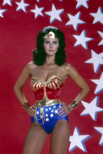 Lynda Carter in Wonder Woman busty pose in costume super hero 24x36 Poster -