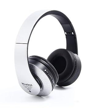 OOBY Auriculares Estéreo Inalámbricos 4.2, Auriculares Plegables con Puerto para Compartir Música Y Micrófono Incorporado