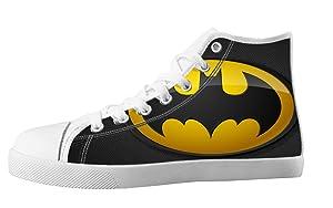 Custom Batman Individualized Design High Top Lace Up Canvas Flat For Men's Shoes-10M(US)