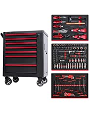 Large Tool Chest,Tool cabinet cart Combination 3 drawer with ball bearing slides | -different models- 119pc Tool Kit - Black