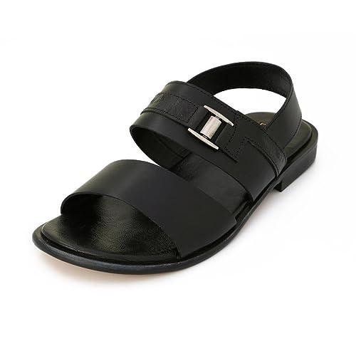 e8130d4e7958 Lord s Mens Black Leather Michelangelo Sandals Size 9 -0245c92799 ...