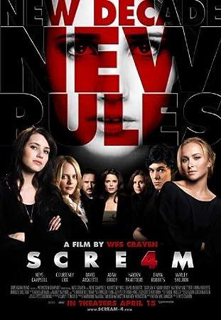 SCREAM 4 FOUR IV ORIGINAL 2011SLASHER CINEMA FILM MOVIE PRINT PREMIUM POSTER