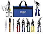 MIDWEST BUILDING Tool Kit - 11 Piece Set Includes Aviation Snips with Siding Tools & Bag - MWT-BULDKIT03