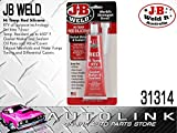 J-B Weld 31314 High Temperature RTV Silicone Gasket Maker and Sealant - Red - 3