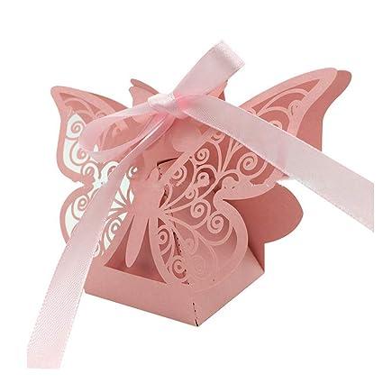 Amazoncom Hemore 20pcs Hollow Candy Box Laser Cut Butterfly