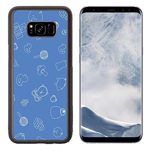 Luxlady Samsung Galaxy S8 Plus S8+ Aluminum Backplate Bumper Snap Case IMAGE ID 4830747 Illustration of blue baby wallpaper ()