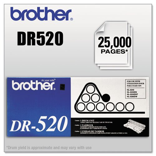 Original Brother DR-520 (DR520) 25000 Yield Drum Unit - Retail