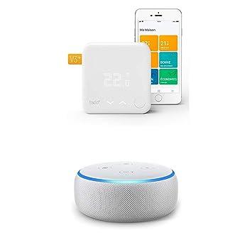 Echo Dot gris claro +A: Termostato Kit de Inicio V3+: Amazon.es: Bricolaje y herramientas
