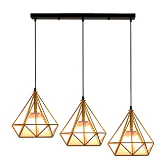 Forme ContemporainLustre Luminaire Diamant Suspension Cage Stoex EeYW29IbDH