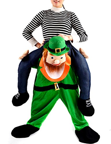Gameyly Unisex Adult Shoulder Carry Me Ride Funny Pants Novelty Costume One Size Leprechaun - Leprechaun Costume Shoulders