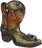 Koehlerhomedecor Koehler Lucky Cowboy Boot Brown Polyresin Wine Bottle Holder For Sale
