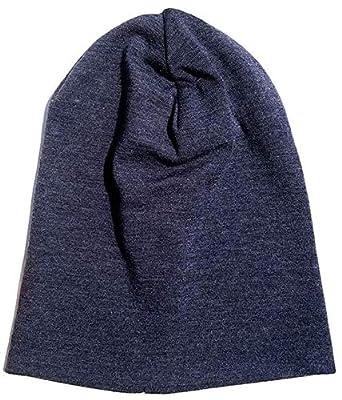 b8a003f0d81 World 2 home Men Women 100% Super fine Merino Wool Beanie hat Reversible  Training Running Winter Thermals Fleece Cap Knit Sports Warm Cosy   Amazon.in  ...