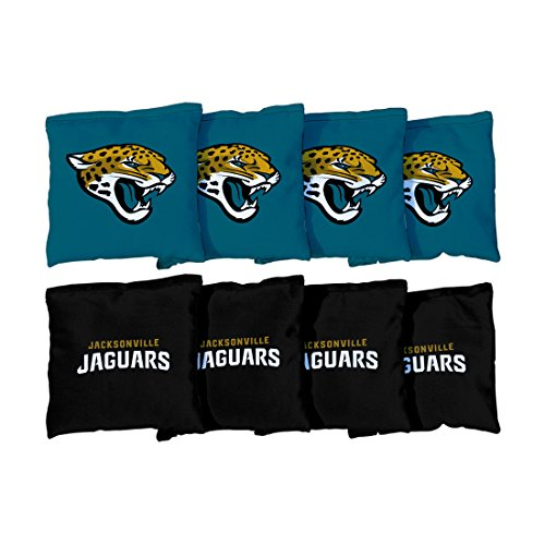 Jacksonville Jaguars Bbq Set - Jacksonville Jaguars NFL Cornhole Game Bag Set (8 Bags Included, Corn-Filled)