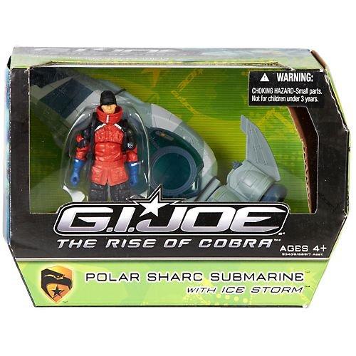 G.I. Joe The Rise of Cobra Alpha Vehicle Polar Sharc Submarine with Icestorm Action Figure