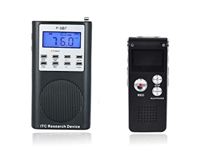 Ghost Hunt P-SB-7 Spirit Box & Digital Voice Recorder With FREE Speaker  Included