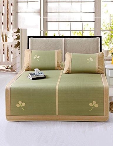 Tapis simple Tapis de tapis d'herbe Tapis d'été naturels pliables d'été Tapis d'étage haut de gamme 135cm Haute qualité +++++ ( Couleur : A )