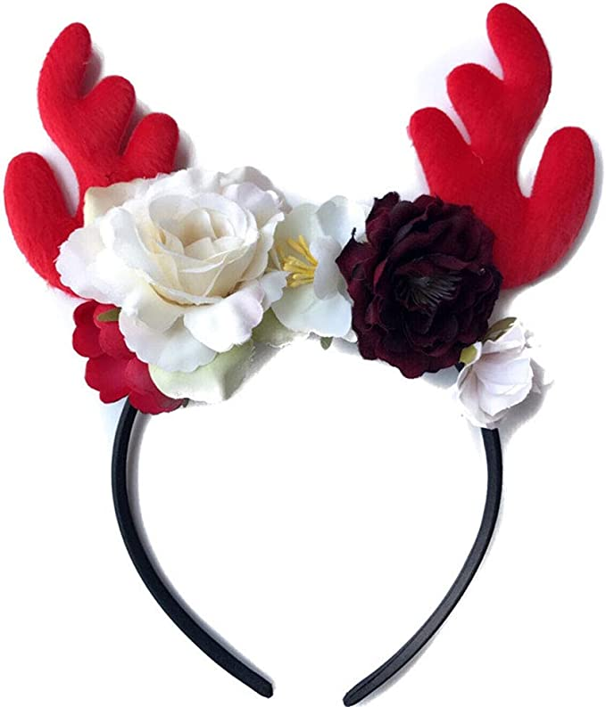 Details about  /Women Kid Girs Antler Elk Horn Headband Hair Clasp Hoop Christmas Party Gift