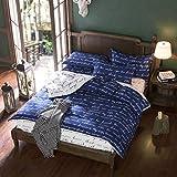 Nokolulu Love Letters Print Duvet Cover Set Premium Modern Teen Boy Girl Bedroom Bedding Set Twin Comforter Cover Zipper Closure,Gifts for Family,Him,Her (Twin, Dark Blue)
