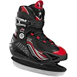 Roces USA Swish Boy's Adjustable Ice Skate, Black/Red, 13Jr-3