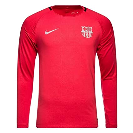 huge selection of 06c49 bf7b2 Amazon.com : Nike 2018-2019 Barcelona Long Sleeve Training ...
