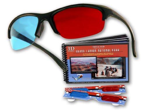 (Plastic 3D Glasses - The Original Pro-X Anaglyph 3D Glasses. Includes a Bonus Virtual Tours National Park 3D Booklet)