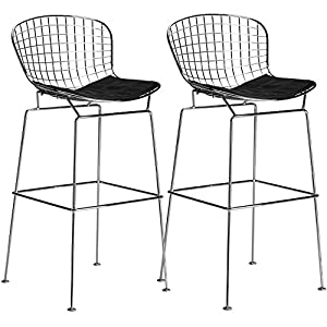 Amazon Com Poly And Bark Bertoia Style Wire Bar Stool In