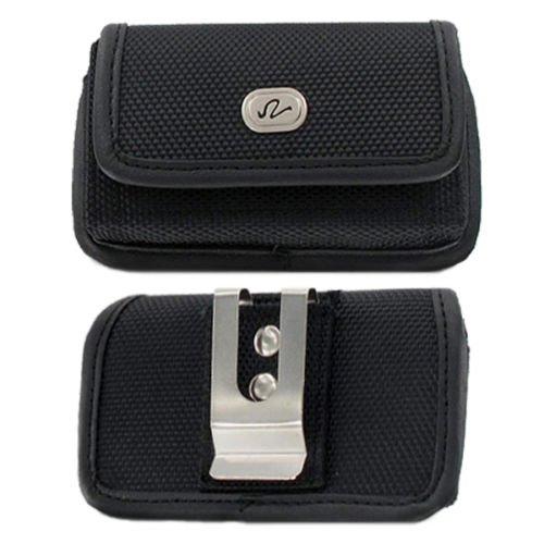 Sideways Rugged Canvas Belt Clip Case for Motorola Motogo! EX431G