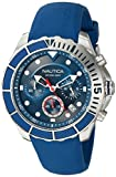 Nautica Men's 'PUERTO RICO' Quartz Stainless Steel and Silicone Sport Watch, Color:Blue (Model: NAPPTR001)