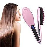 Image of Dadiii Hair Straightener Brush, Ceramic Heating Hair Straightening Irons Brush for Detangling and Silky Hair Straightening Comb ( LCD Display, Anti-Static, Anti-Scald)