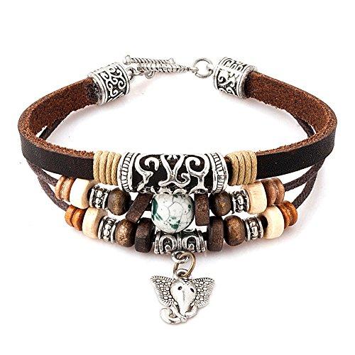 Wood Charms Bracelet - 9