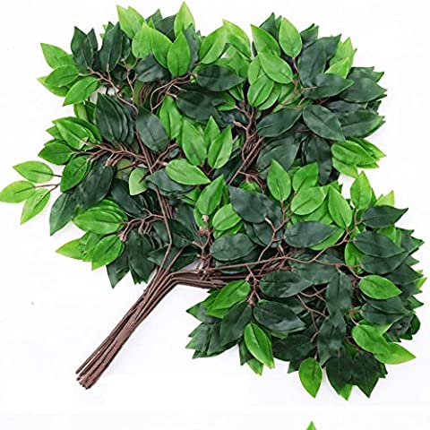 Hense Artificial Tropical Green Plant Leaves, Hawaiian Theme Party Jungle Beach Theme Decorations for Birthdays, Prom, Events(HYZ02) (Prom Themes)