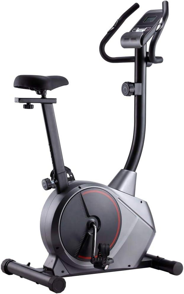 vidaXL Bicicleta Estática Magnética Pulsómetro Pantalla LCD 8 Niveles Sillín Ajustable Bici Ejercicio Sensor Pulso Calorías Velocidad Distancia Tiempo: Amazon.es: Deportes y aire libre