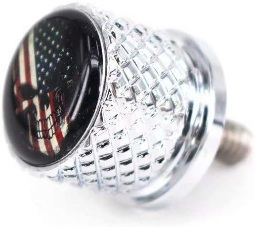 "Stainless Knurled Fender Seat Bolt Screw 1/4""-20 Thread For Harley Davidson - American Skeleton"