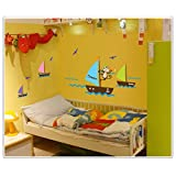 Sunshinebag Wall Stickers Room Decals Home Decor Children's Room Of The Monkey's Sea Of The Sea