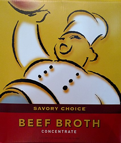 Savory Choice Beef Broth Concentrate - 4.5 Liter (1.19 Gallons) - 20x Concent...
