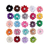 XUKE Mixed Colors 25PC Sunflower Diamond Head Flower Headband Hairpin