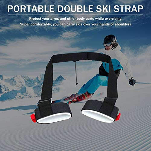Surobayuusaku Skiing Pole Shoulder Hand Carrier Adjustable Handle Strap Hook Loop Protecting