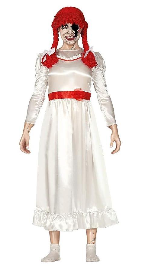 repliche il più votato genuino le più votate più recenti Guirca- Costume Bambola Diabolica Adulta Taglia L, Colore Bianco, L, 88353