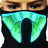 Culturemart Halloween Mask LED Light Up Party Masks The Purge Election Year Great Funny Masks Festival Cosplay Costume Supplies Glow in Dark
