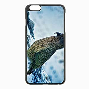iPhone 6 Plus Black Hardshell Case 5.5inch - parrot snow Desin Images Protector Back Cover