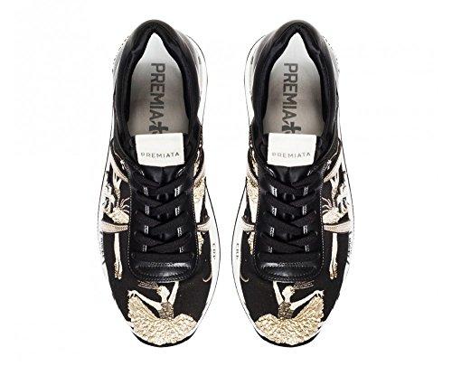 PREMIATA Sneakers Donna LIZ2999 Pelle Nero