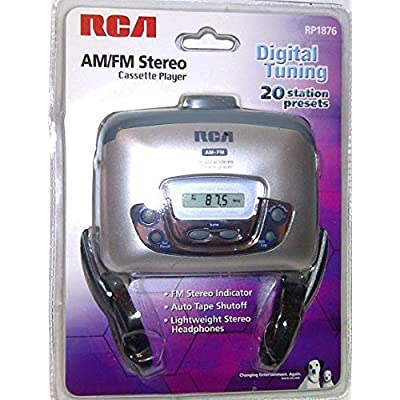 Image of Cassette Players & Recorders RCA RP1876 PERSONAL STEREO WITH AM/FM DIGITAL TUNING CASSETTE PLAYER